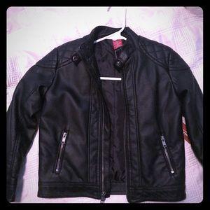 Little boys Arizona Black leather jacket